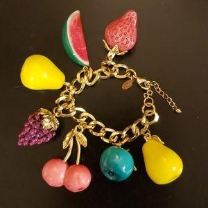 Aldo Fruit Charm Bracelet